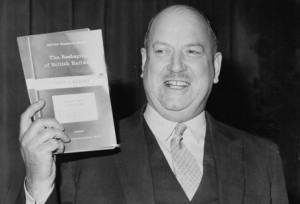 Richard Beeching, looking the most pleased anyone has about a report