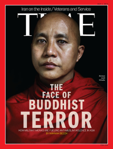 """The Government banned this TIME article on the leader of the 969 movement, Ashin Wirathu. Wirathu is known for his pacifist mottos such as """"Now is not the time for calm. Now is the time to rise up, to make your blood boil."""""""